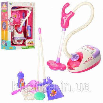 Игрушечный набор для уборки A5999 пылесос, совок, щетка с световыми и звуковыми эффектами