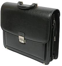Мужской портфель из эко кожи Jurom Польша 0-33/2-111 чёрный, фото 3