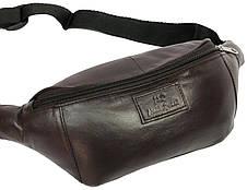 Поясная сумка из натуральной кожи Paul Rossi 907-MTN dark brown, фото 3