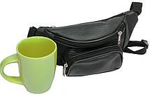 Поясная сумка из натуральной кожи Kangur Maly 41395 чёрный, фото 2