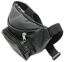 Поясная сумка из натуральной кожи Kangur Maly 41395 чёрный, фото 3