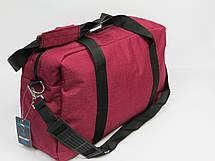 Дорожная сумка Wallaby,  2550 burgundy 21 л, бордовый, фото 3