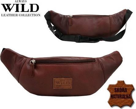 Кожаная поясная сумка Always Wild, фото 2