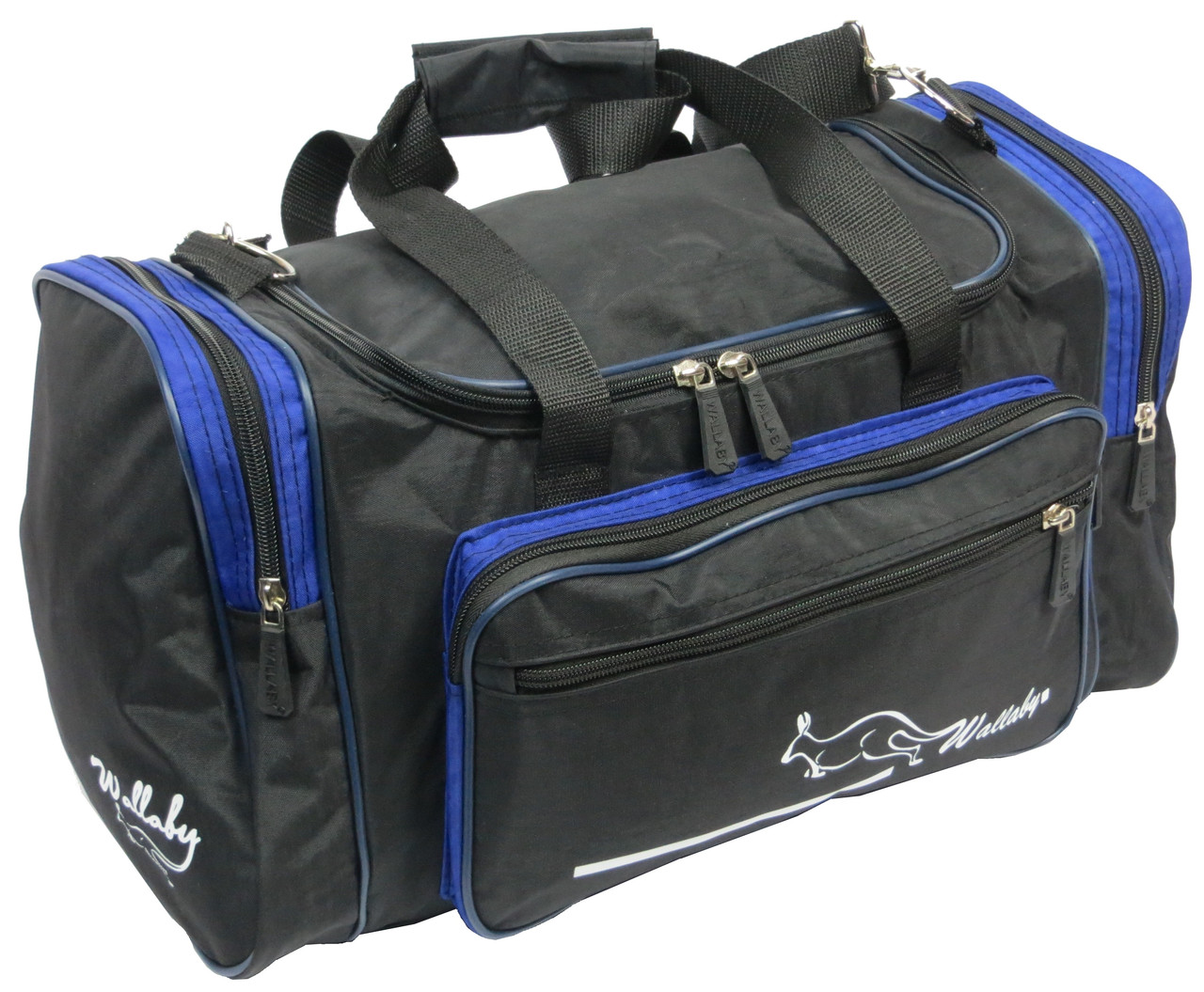 Сумка для тренировок Wallaby 270-2 черный с синим, 23 л