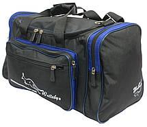 Сумка для тренировок Wallaby 270-2 черный с синим, 23 л, фото 3