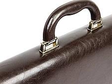 Портфель из эко кожи на 4 отдела, Jurom коричневый, фото 3