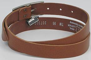 Узкий женский ремень, поясок Vanzetti, Германия, 100083 коньяк, 2,5х108 см, фото 2
