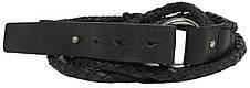 Женский поясок Vanzetti, Германия, 100229 кожаный, черный, 2х117 см, фото 2
