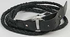 Женский поясок Vanzetti, Германия, 100229 кожаный, черный, 2х117 см, фото 3