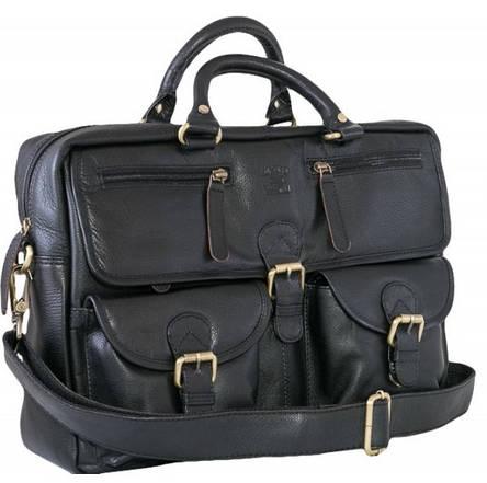 Мужская кожаная сумка-портфель Always Wild CP 146-CBH-58878 черная, фото 2