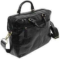 Мужская кожаная сумка-портфель Always Wild CP 146-CBH-58878 черная, фото 3
