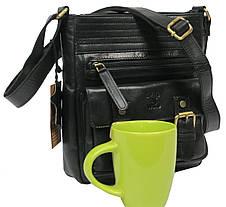 Мужская кожаная сумка Always Wild C48.0525 черная, фото 2