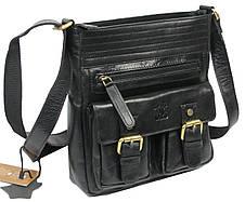 Мужская кожаная сумка Always Wild C48.0525 черная, фото 3