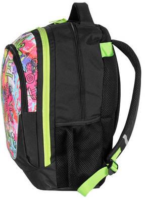 Молодежный рюкзак с абстракцией PASO 21L BDC-367 черный, фото 2