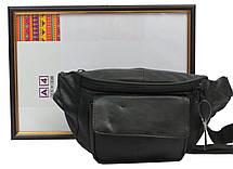 Поясная сумка из кожи Cavaldi 902-353 черная, фото 3