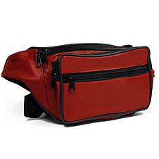 Кожаная сумка на пояс Cavaldi 904-353 red, красная, фото 2