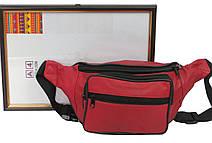 Кожаная сумка на пояс Cavaldi 904-353 red, красная, фото 3