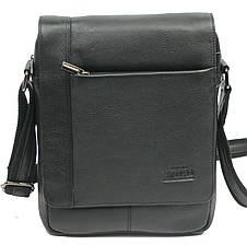 Кожаная мужская сумка через плечо Always Wild 772-NDM black, фото 2