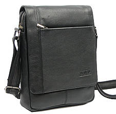 Кожаная мужская сумка через плечо Always Wild 772-NDM black, фото 3
