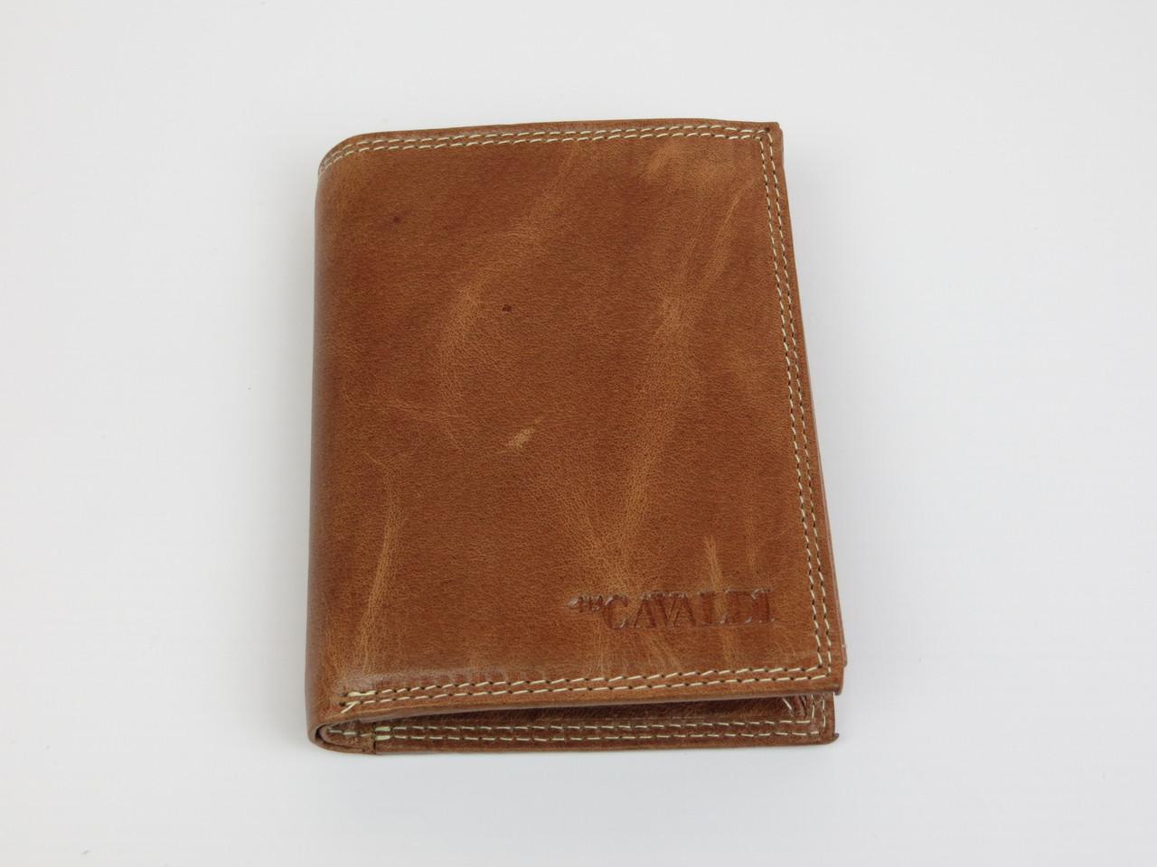 Мужское кожаное портмоне ALWAYS WILD SPRM034 Tan светло-коричневый
