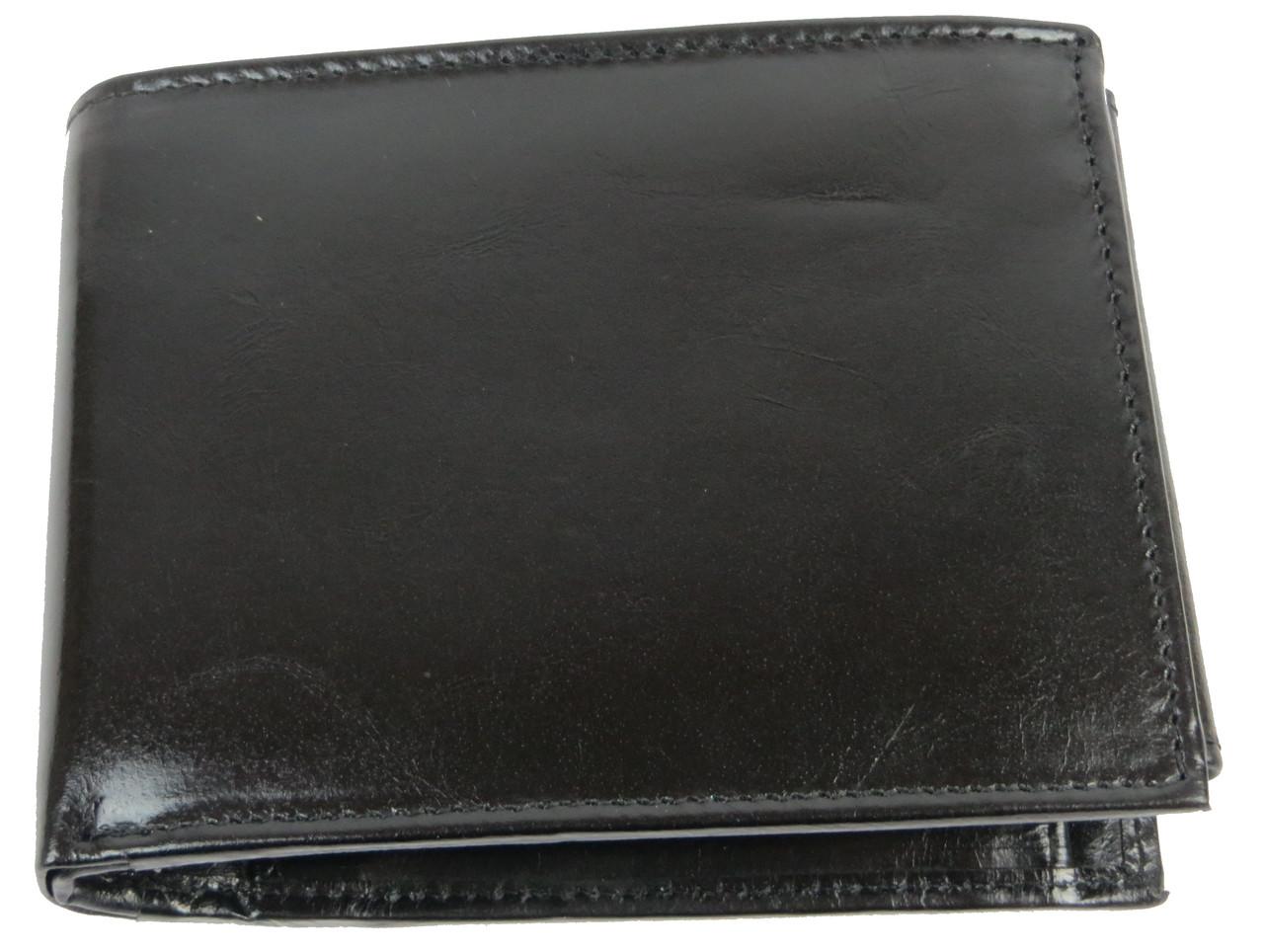 Горизонтальное мужское портмоне из кожи ALWAYS WILD SBLM02CFL черный