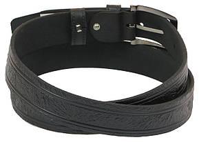 Мужской кожаный ремень под брюки Skipper 1000-35 черный ДхШ: 127х3,5 см., фото 3