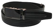 Мужской кожаный ремень под брюки Skipper 1005-35 черный ДхШ: 126х3,5 см., фото 3