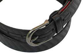 Мужской кожаный ремень под брюки Skipper 1030-33 черный ДхШ: 122х3,3 см., фото 2