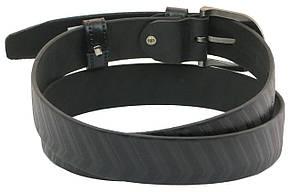Мужской кожаный ремень под брюки Skipper 1030-33 черный ДхШ: 122х3,3 см., фото 3