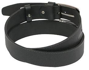 Мужской кожаный ремень под джинсы Skipper 1103-40 черный ДхШ: 124х4 см., фото 2