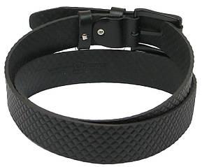 Мужской кожаный ремень под джинсы Skipper 1064-40 черный ДхШ: 134х4 см., фото 2