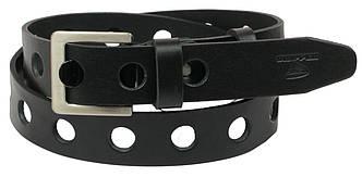 Мужской кожаный ремень под джинсы Skipper 1071-38 черный ДхШ: 131х3,8 см., фото 2