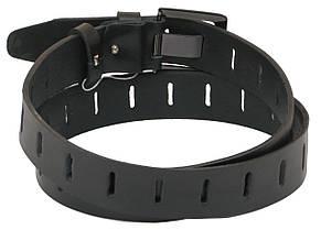 Мужской кожаный ремень под джинсы Skipper 1083-38 черный ДхШ: 130х3,8 см., фото 2