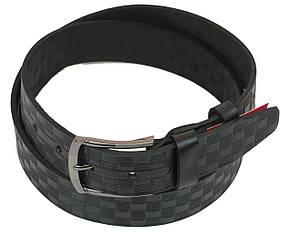 Мужской кожаный ремень под джинсы Skipper 1091-38 черный ДхШ: 124х3,8 см., фото 2