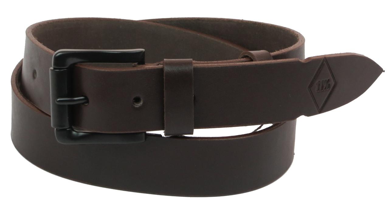 Мужской кожаный ремень под джинсы Skipper 1094-38 коричневый ДхШ: 134х3,8 см.