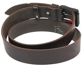 Мужской кожаный ремень под джинсы Skipper 1094-38 коричневый ДхШ: 134х3,8 см., фото 2