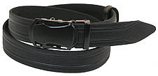 Мужской кожаный ремень под брюки Skipper 1069-35 черный ДхШ: 121х3,5 см., фото 3