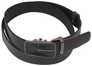Мужской кожаный ремень под брюки Skipper 1075-35 черный ДхШ: 130х3,5 см., фото 2