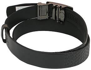 Мужской кожаный ремень под брюки Skipper 1075-35 черный ДхШ: 130х3,5 см., фото 3