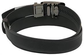 Мужской кожаный ремень под брюки Skipper 1084-35 черный ДхШ: 131х3,5 см., фото 3