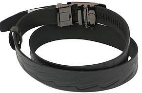 Мужской кожаный ремень под брюки Skipper 1079-35 черный ДхШ: 132х3,5 см., фото 3