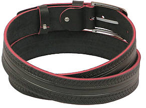 Мужской кожаный ремень под джинсы Skipper 1127-38 коричневый ДхШ: 128х3,8 см., фото 2