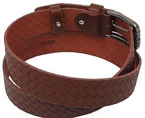 Мужской кожаный ремень под джинсы Skipper 1131-40 коричневый, фото 2