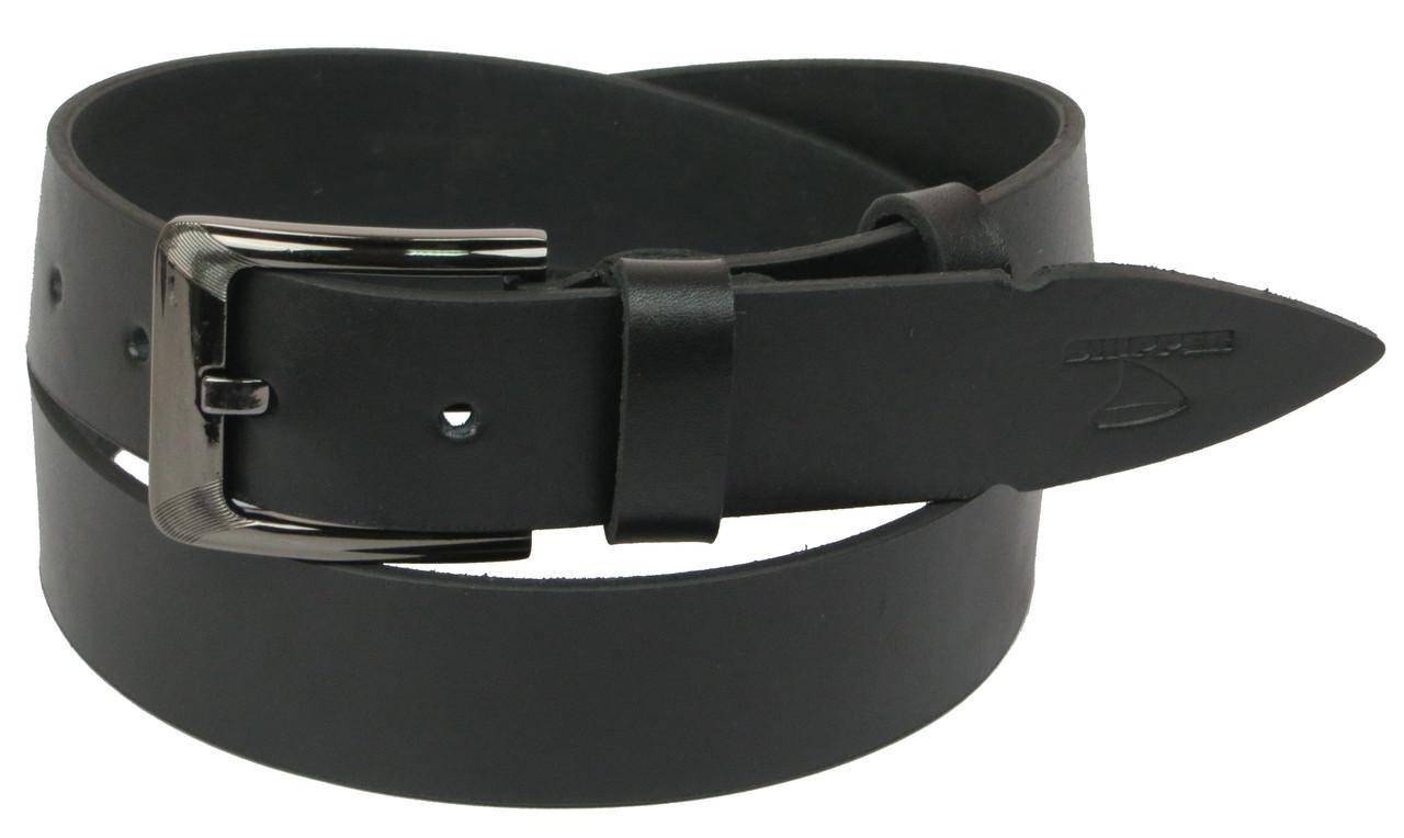 Мужской кожаный ремень под джинсы Skipper 1128-38 черный ДхШ: 130х3,8 см.