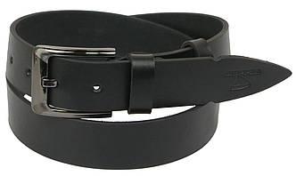 Мужской кожаный ремень под джинсы Skipper 1128-38 черный ДхШ: 130х3,8 см., фото 2