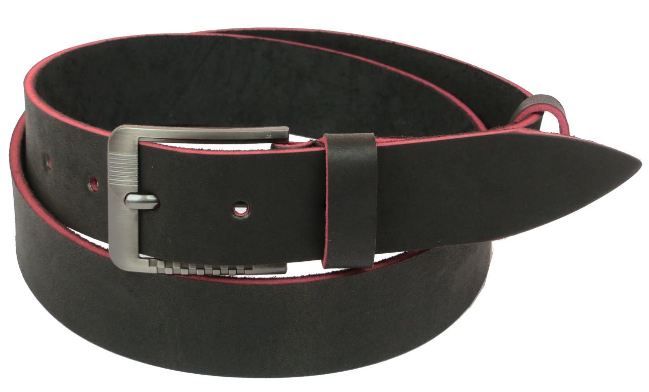 Мужской кожаный ремень под джинсы Skipper 1129-38 темно-коричневый ДхШ: 131х3,8 см.