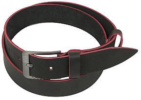Мужской кожаный ремень под джинсы Skipper 1129-38 темно-коричневый ДхШ: 131х3,8 см., фото 2