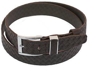 Мужской кожаный ремень под брюки Skipper 1138-35 коричевый ДхШ: 124х3,5 см., фото 2