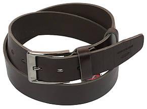 Мужской кожаный ремень под джинсы Skipper 1155-45 темно-коричневый ДхШ: 124х4,5 см., фото 2