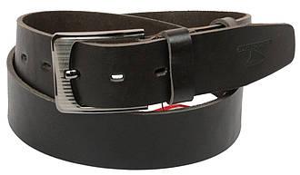 Мужской кожаный ремень под джинсы Skipper 1179-45 темно-коричневый ДхШ: 125х4,5 см., фото 2